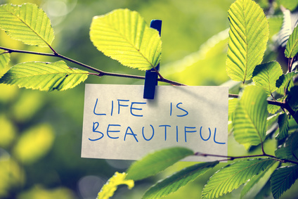 Life is Beautiful inspirational message