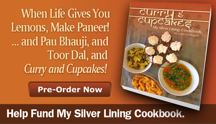 Curry and Cupcake cookbook promo
